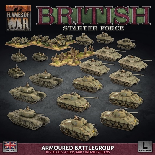 Flames of War: British LW Armoured Battlegroup Army Deal