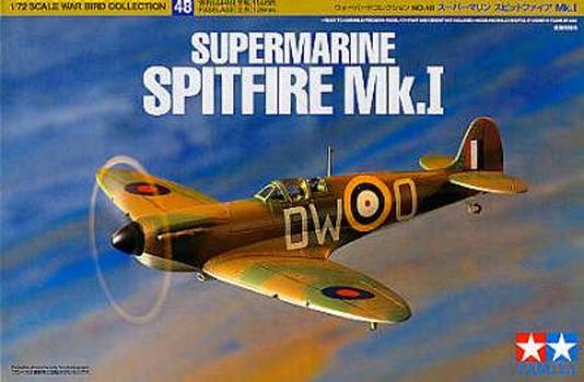 Tamiya British Supermarine Spitfire MK.I 1/72 Aircraft Model Kit
