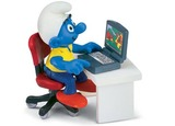 The Smurfs - Smurf with Laptop