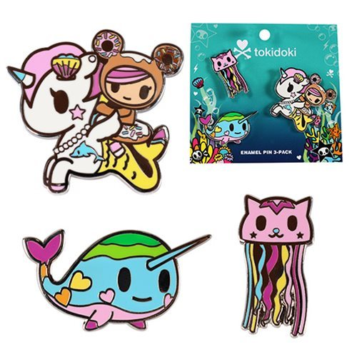 Tokidoki: Sea Punk - Enamel Pin Set (3-Pack)