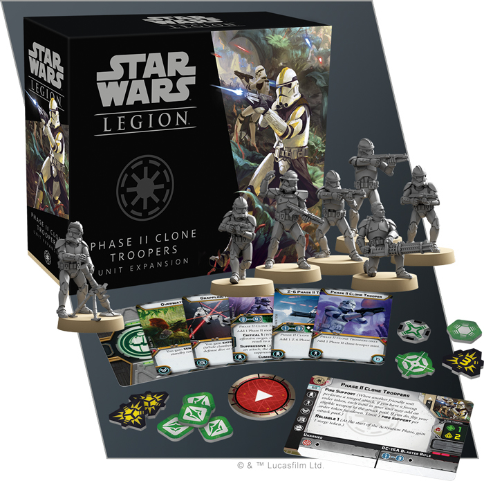 Star Wars Legion: Phase II Clone Troopers Unit Expansion image