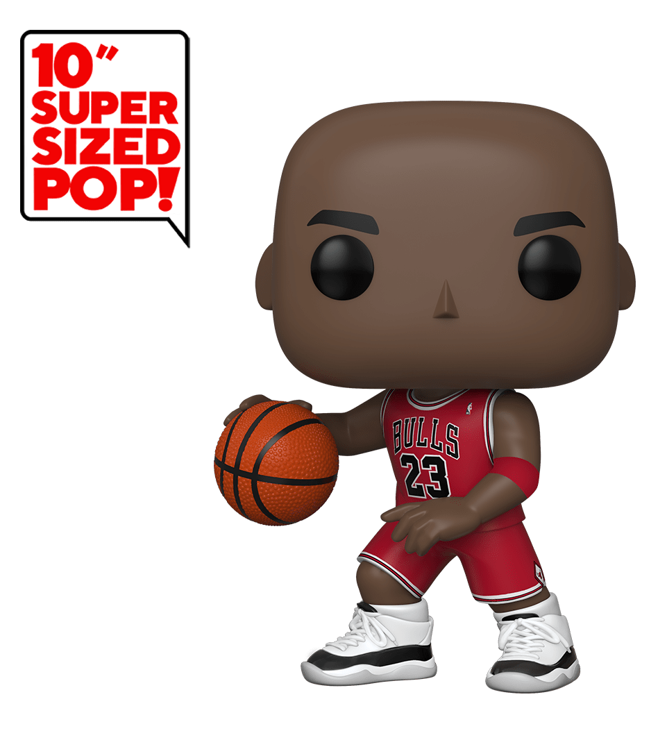 "NBA: Michael Jordan (Red Jersey) - 10"" Super Sized Pop! Vinyl Figure image"