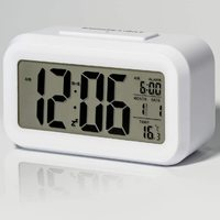 Smart Night Light Digital Alarm Clock - White