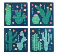 Colourful Cactus Coasters (Set of 4)