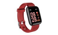 Smart Sports Activity Tracker with Heart Rate Monitor - Red