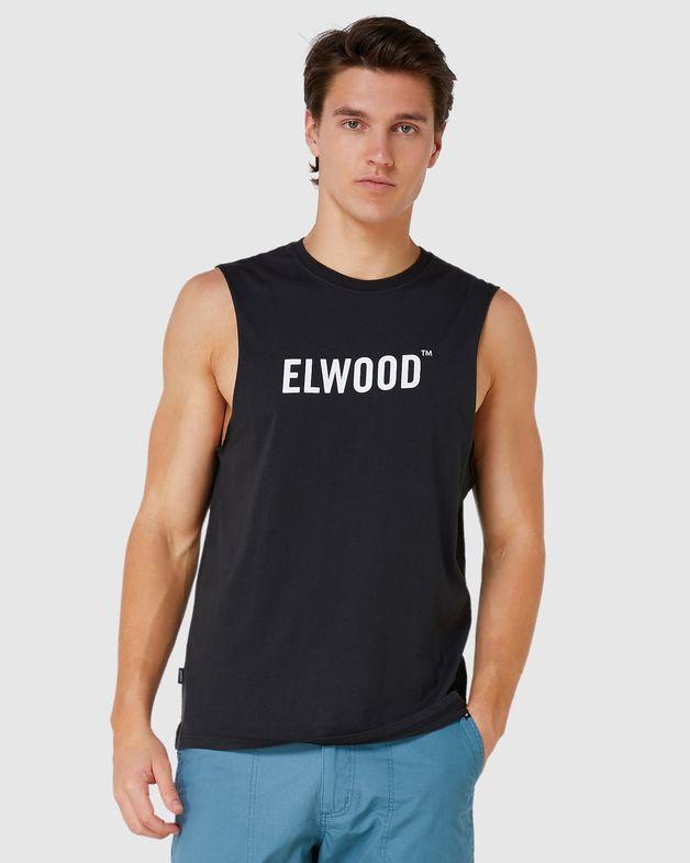 Elwood: Mens Trademark Muscle Tank (Vintage Black) - Ex-large