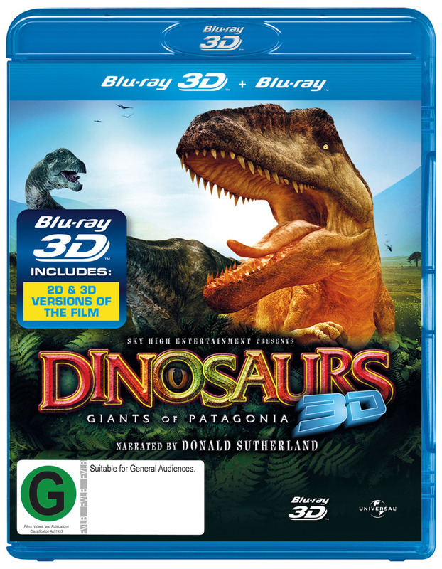 IMAX:Dinosaurs: Giants of Patagonia 3D on Blu-ray, 3D Blu-ray