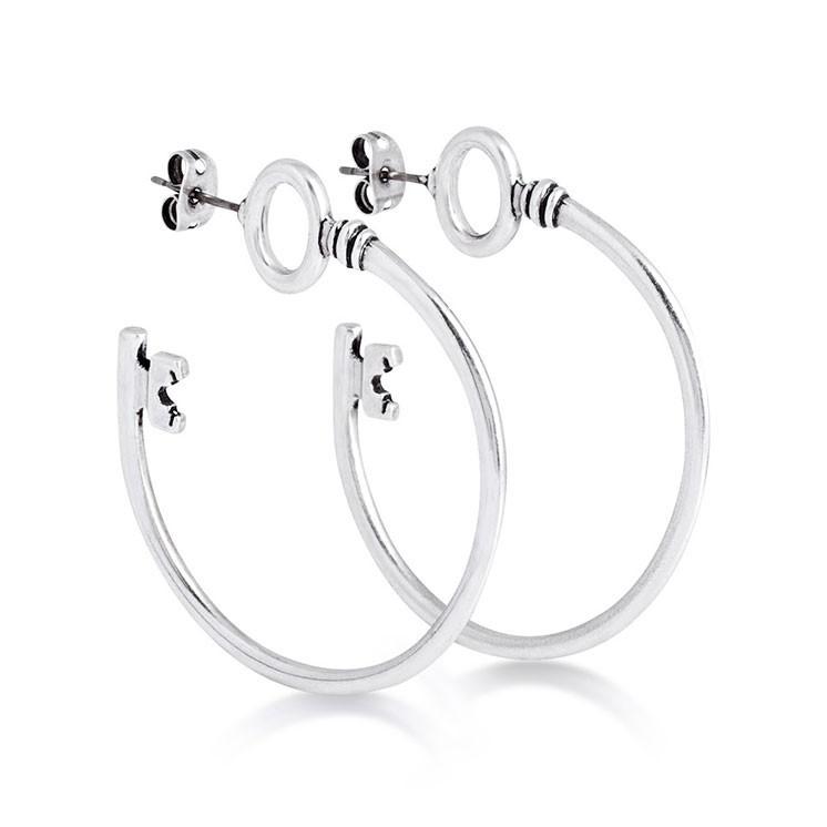 Couture Kingdom: Disney - Alice in Wonderland Key Hoop Earrings (White Gold) image