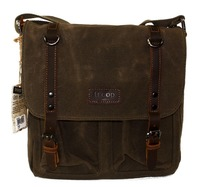 Edison Waxed Canvas Messenger Bag - Olive