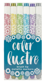 Color Lustre: Metallic Markers - Set of 6 image