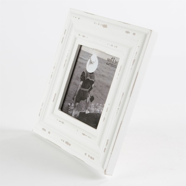 Rustic Romance Square Photo Frame (White)