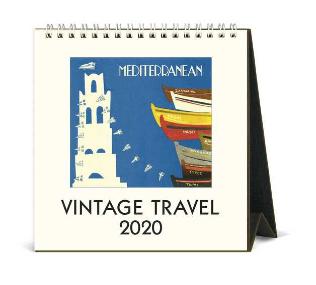 Cavallini Vintage Travel 2020 Desk Calendar