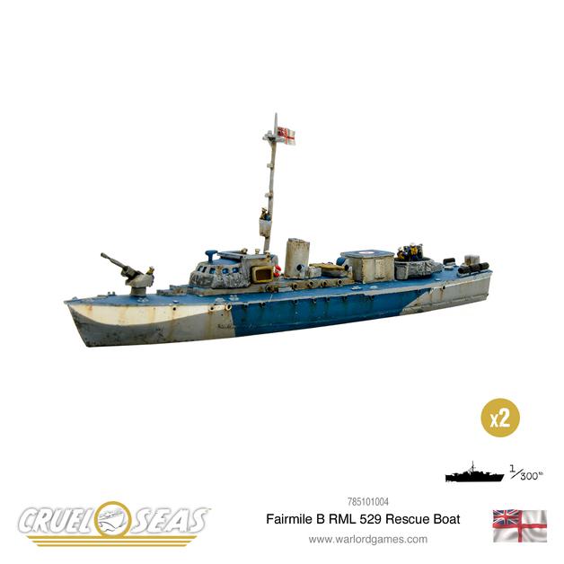 Cruel Seas: Fairmile B RML 529 Rescue Boat