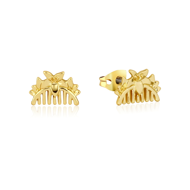 Couture Kingdom: Disney Mulan Comb Stud Earrings Yellow Gold