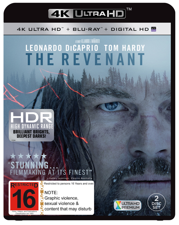 The Revenant on Blu-ray, UHD Blu-ray, UV
