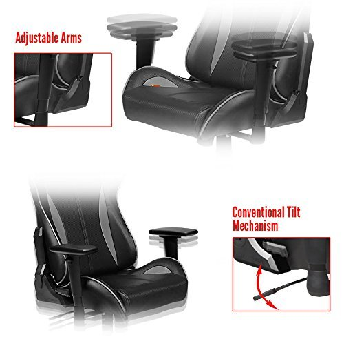 DXRacer Formula Series FH57 Gaming Chair (Black and Grey)