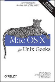 Mac OS X for Unix Geeks by Ernest E. Rothman image