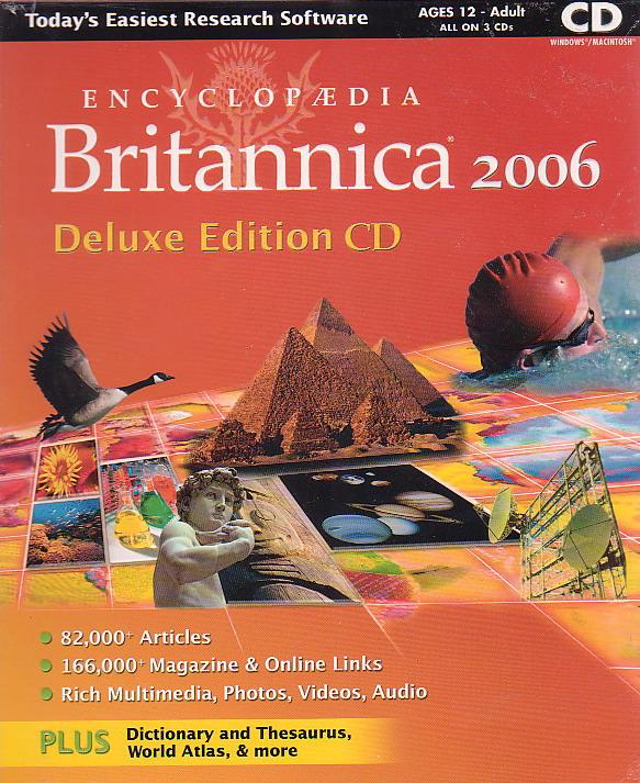Britannica 2006 Deluxe Edition CD image