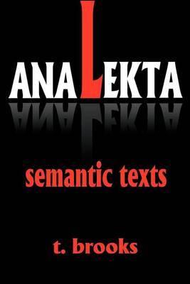 Analekta: Semantic Texts by Todd Brooks image