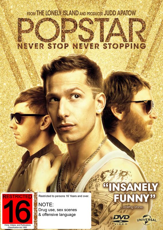 Popstar - Never Stop Never Stopping on DVD