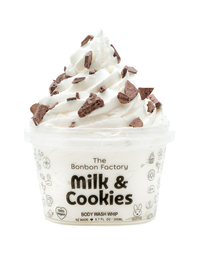 The Bonbon Factory Body Wash Whip - Milk & Cookies (200g)