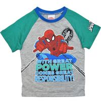 Marvel: Spiderman Green Sleeves Tee with Print - Size 7