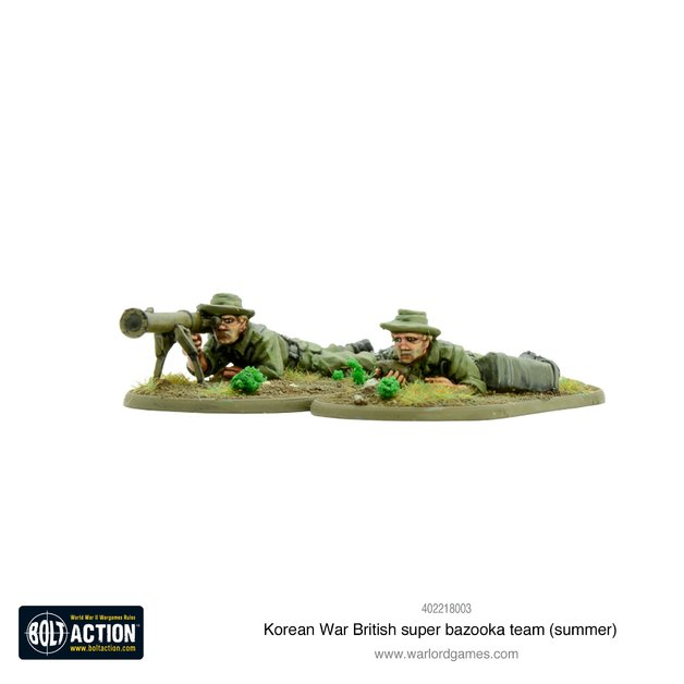 Bolt Action: Korean War British super bazooka team (summer)