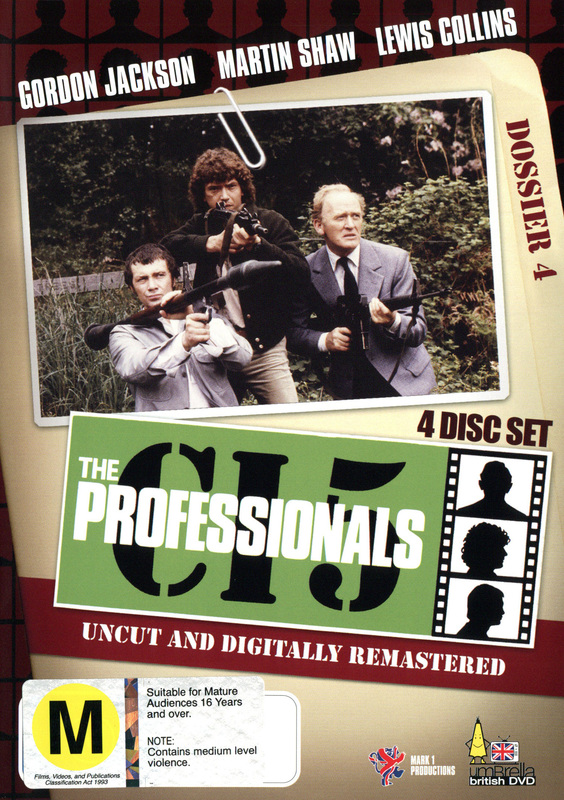 The Professionals - Dossier 4 (4 Disc Box Set) on DVD