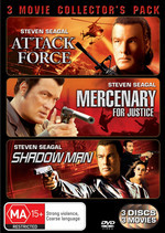Attack Force / Mercenary For Justice / Shadow Man - 3 Movie Collector's Pack (3 Disc Set) on DVD