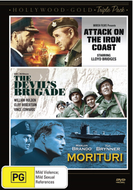 Hollywood Gold Triple Pack - Attack on the Iron Coast / Devil's Brigade / Morituri on DVD