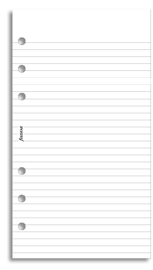 Filofax - Personal Lined Notepaper - White (30 Sheets)