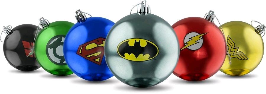 Dc Comics Christmas Bauble Ornament Set