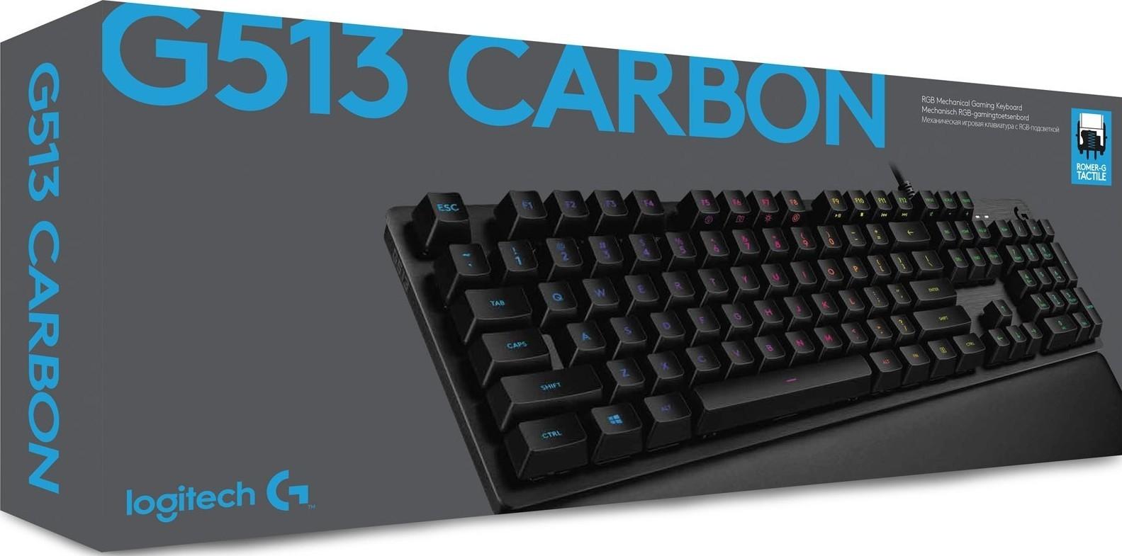 Logitech G512 Carbon RGB Mechanical Gaming Keyboard - Tactile