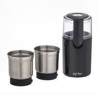 Leaf & Bean: 2 in 1 Electric Coffee & Spice Grinder (10x10x21cm/1 Removable Coffee Grinder Bowl/ 1 Removable Chopping Bowl) image