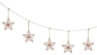 Geometric Copper Star Garland - 10 Star (1m)