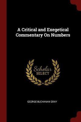 A Critical and Exegetical Commentary on Numbers by D.D image