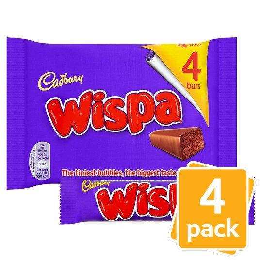 Cadbury Wispa Bar 4pk