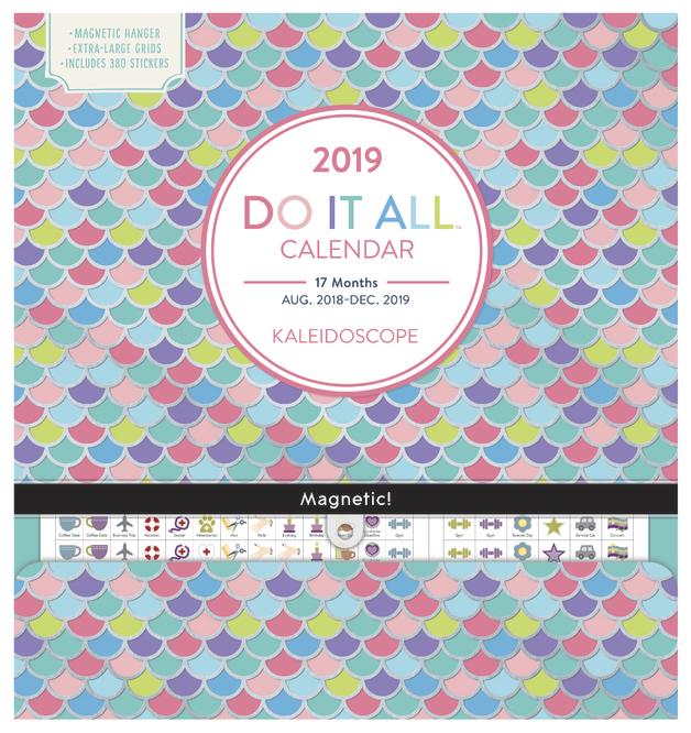Do It All: Kaleidoscope 17 Month 2019 Wall Calendar