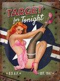Retro Metal Pin Up Sign - Target for Tonight
