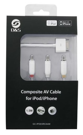D&S: 1.5m Audio-Visual Cable with USB (For iPod/iPhone/iPad)