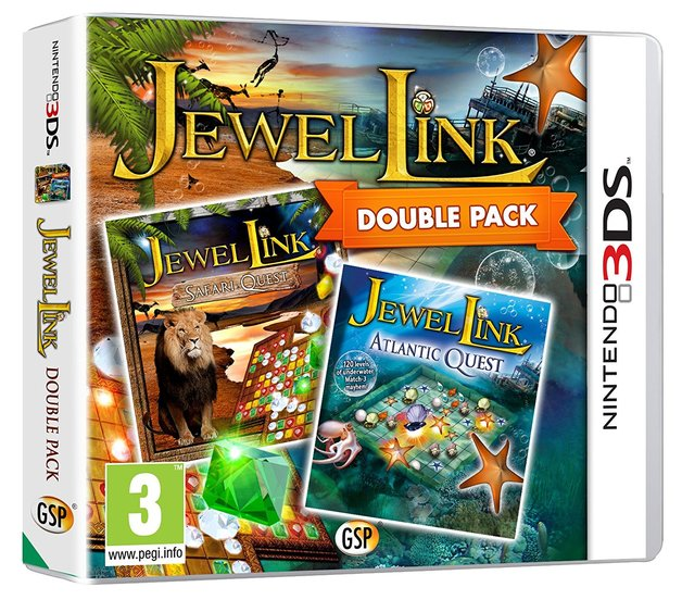 Jewel Link Double Pack - Safari Quest and Atlantic Quest for 3DS