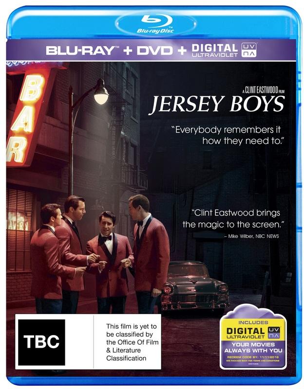 Jersey Boys on DVD, Blu-ray