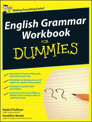 English Grammar Workbook For Dummies by Nuala O'Sullivan