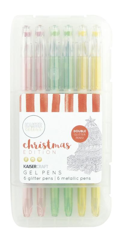 Kaisercraft: Gel Pens - Christmas Colours (Box of 12)