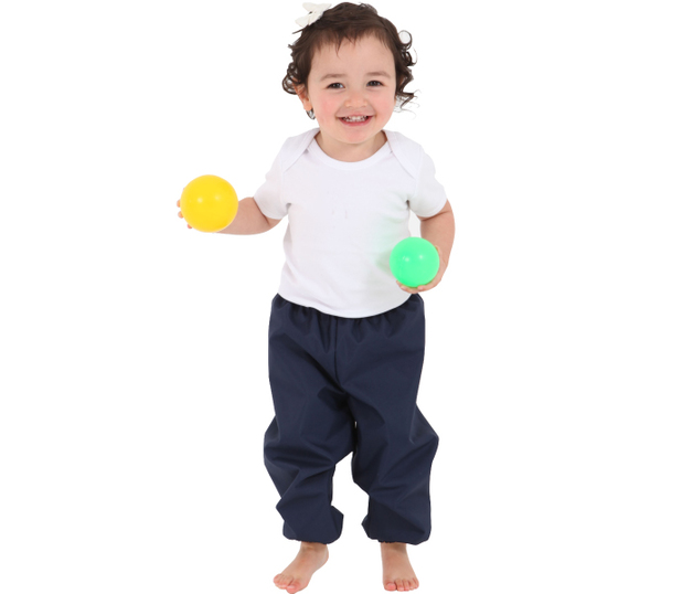 Mum 2 Mum: Waterproof Crawler Pants - Navy (6-12 Months)