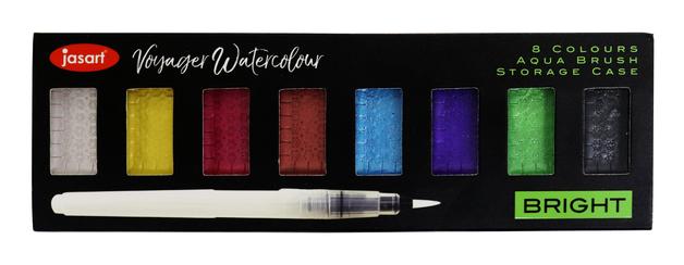 Jasart Voyager: Watercolour Metallic Set Bright - 8 Piece