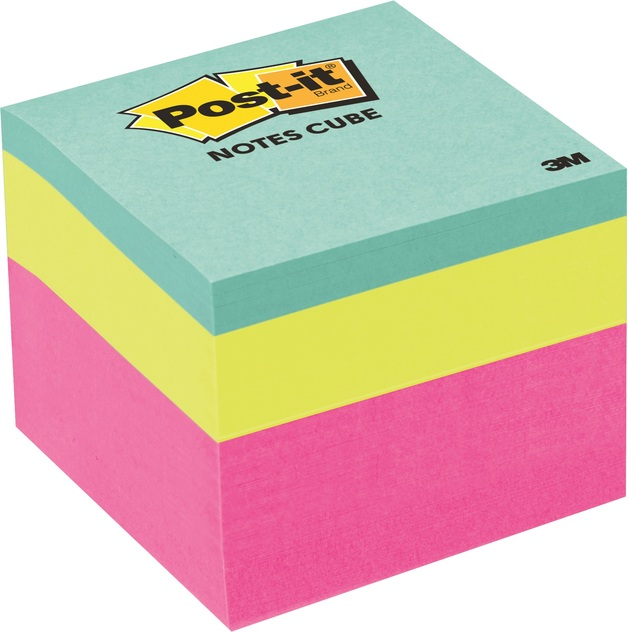 Post-it: Notes Mini Cube Pink Wave - 48 x 48 mm x 400