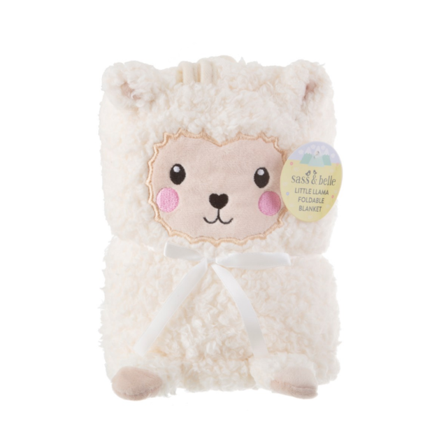 Sass & Belle: Little Llama Soft Fleece Baby Blanket