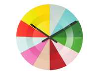 Karlsson Colourful Slice Wall Clock