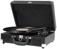 3-Speed Vintage Bluetooth Suitcase Turntable - Black